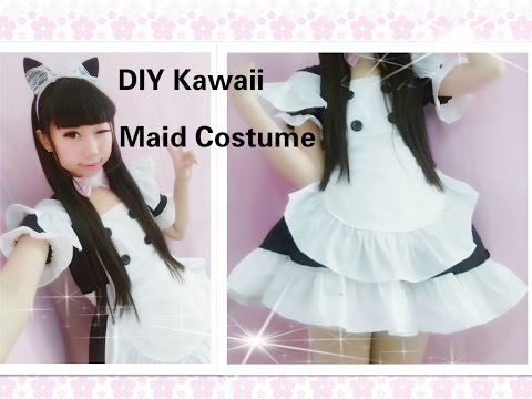 Kawaii Anime Cosplay DIY - How to Make Neko Maid Cafe Costume/outfits(Easy& adorable)