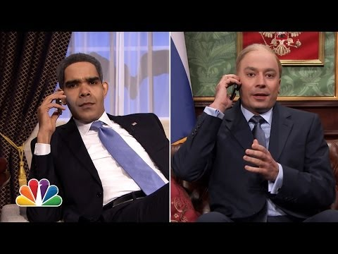 Tonight - President Obama calls Vladimir Putin to discuss the situation in Ukraine. Subscribe NOW to The Tonight Show Starring Jimmy Fallon: http://bit.ly/1nwT1aN Watc...