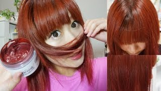 How To Dye Your Hair=RED= カラートリートメントで赤に染めてみた