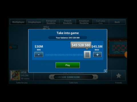 high roller $1M chips... 1 spin... $25,000,000 WiN!!!!