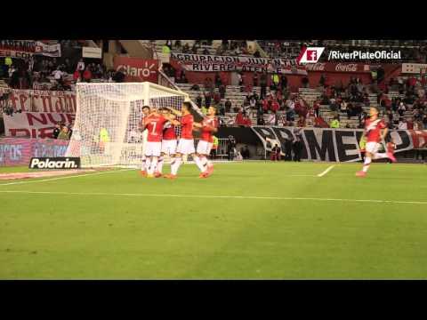 El gol de Mora a Aldosivi, desde el campo de juego