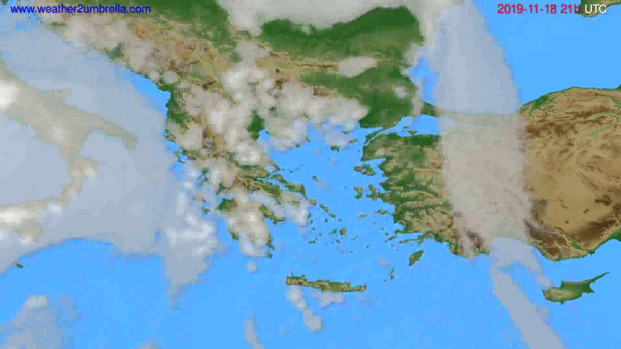 Cloud forecast Greece // modelrun: 12h UTC 2019-11-17