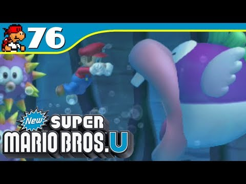 New Super Mario Bros. U | Swim for Your Life! - Superstar Road-3 - 76 (Wii U Gameplay Walkthrough)
