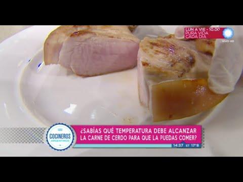 ¿Sabés a qué temperatura cocinar la carne de cerdo para que esté apta para consumo?