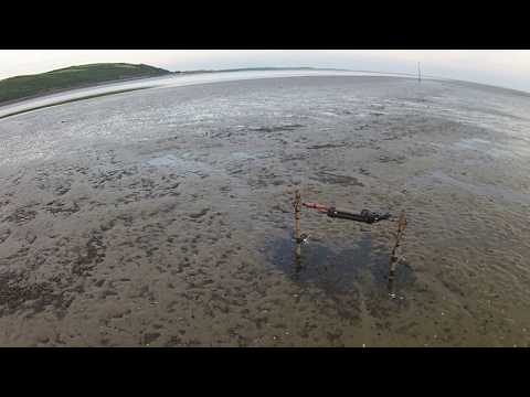 Nortek Vector deployed on an inter-tidal sandbank