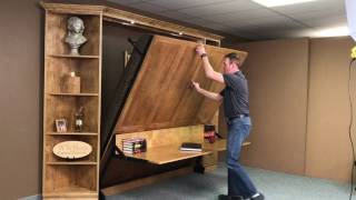 "King Murphy Bed with ""Stay-Level"" Desk"