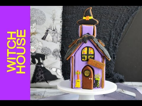 How to Make WITCH'S GINGERBREAD HOUSE FOR HALLOWEEN by HANIELA'S