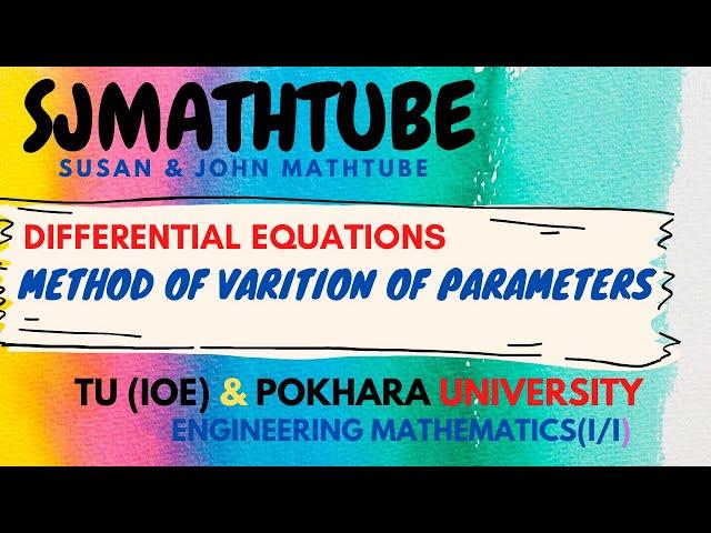 Method Of Variation Of Parameters