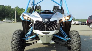2. 2016 Can AM Maverick xDS Turbo 1000R Hyper Silver Octane Blue Review