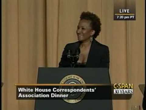 Wanda Sykes - http://www.c-spanarchives.org/library/vidLink.php?b=1241921572&e=1241922502&n=001 Comedienne Wanda Sykes was the entertainment headliner at the 2009 White Ho...