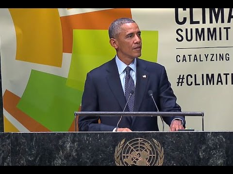 climate - On September 23, 2014, President Obama delivered remarks at the 2014 Climate Summit at the United Nations in New York, New York.