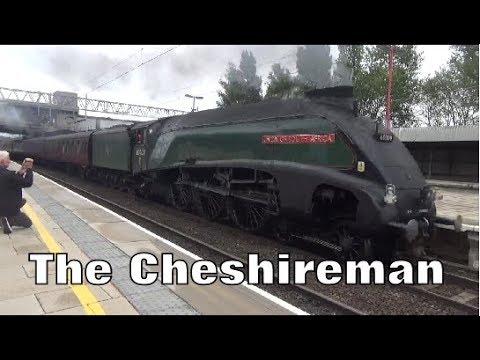 60009 Union of South Africa Passes Through Stafford Hauling The Cheshireman with Whistles