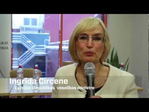 Veselības ministre Ingrīda Circene atklāj Sirds veselības gadu.