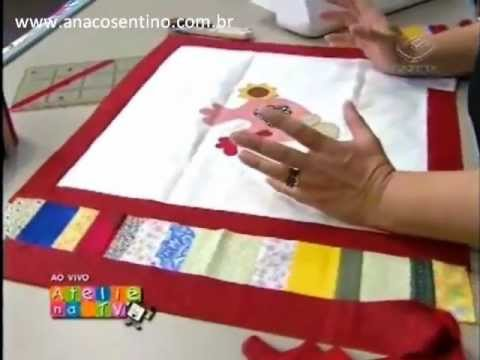 Dica Ana Cosentino: Toalha com Patch Collage DUNA (Ateliê na TV)