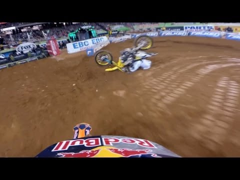 Insane Point-Of-View Footage Of Supercross Riders Battling For The Win