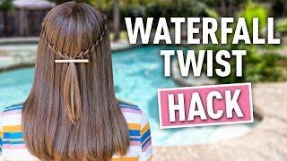 Waterfall Twist HACK | Easy DIY Hairstyles by Cute Girls Hairstyles