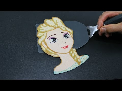 Pancake Art Elsa Frozen by Tiger Tomato