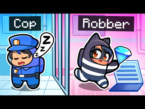 Playing As COPS n' ROBBERS In Among Us!
