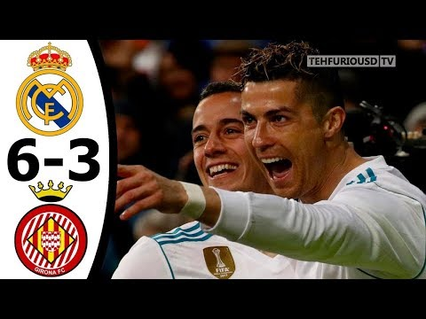 Real Madrid vs Girona 6-3 All Goals and Highlights English Commentary 2017-18 HD 720p