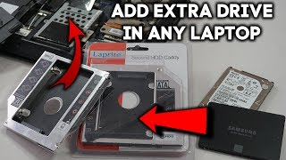 How To Add Extra 2nd Hard Drive In Your Laptop And Expand Storage | SSD + HDD