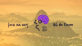 """O aulão """"Foca na UERJ"""", realizado pelo QG do Enem, contou com os assuntos mais recorrentes na prova da UERJ, e ajudou a..."""