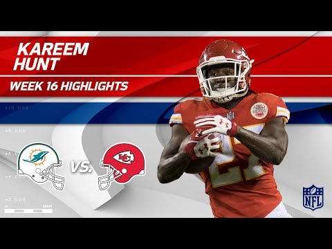 Video: Kareem Hunt Highlights | Dolphins vs. Chiefs | NFL Wk 16 Player Highlights