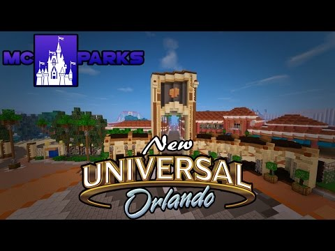 Minecraft NEW Universal Studios Orlando! MCParks Sneak Peek! With Paxtons1 (New USO EAarly Access)