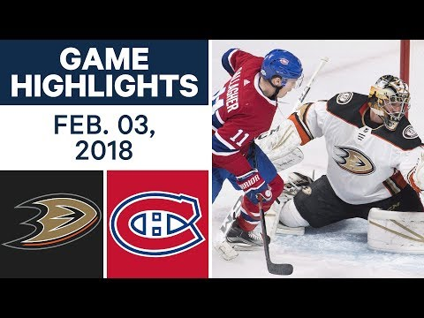 Video: NHL Game Highlights | Ducks vs. Canadiens - Feb. 03, 2018