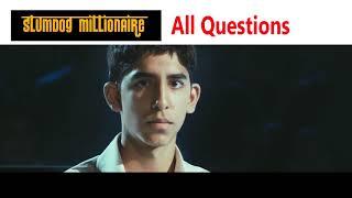 Slumdog millionaire all questions