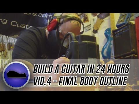 Video 4 - How to build a guitar | final body outline and hand radiusing the compound fretboard