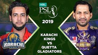 Match 28: Full Match Highlights Karachi Kings vs Quetta Gladiators | HBL PSL 4 | HBL PSL 2019