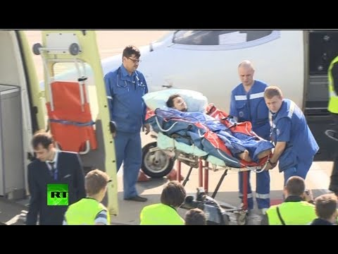 Video: RT journalist shot by Ukraine army arrives in Moscow via medevac jet