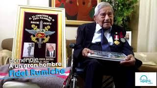 Homenaje a Fidel Alejandro Rumiche Jacinto