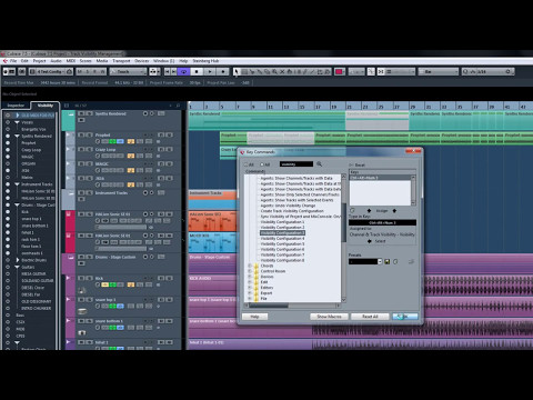 Cubase 7.5 – New Features Tutorials – Track visibility management