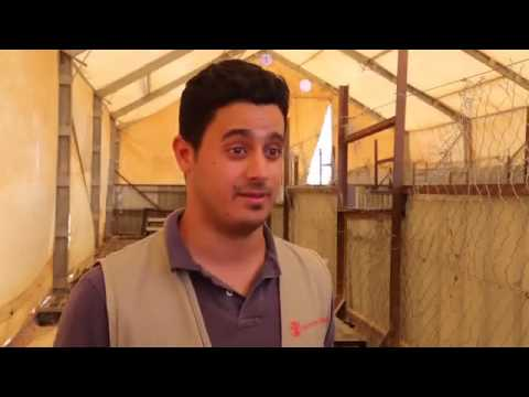 Kamal collects bread for his family - Za'atari Camp