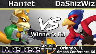 DaShizWiz (Falco) vs. Harriet (Fox) – Melee Winner's R3 – SC: LXVI