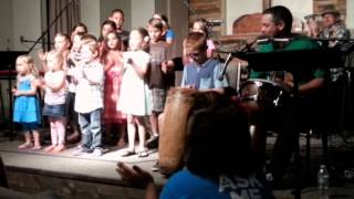 Our Kids on Mission led our church in a song in Nyanja, the native tongue of Zambia. This song was written by two orphans at Breath of Heaven, a Children's ...