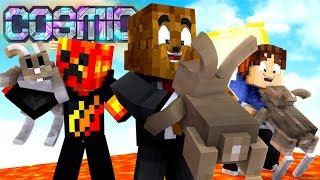*New Loot Update* $10,000,000 Scrolls? - Minecraft Cosmic Sky #4 | JeromeASF