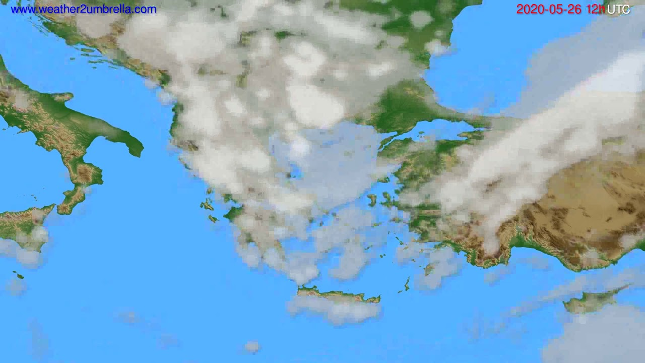 Cloud forecast Greece // modelrun: 00h UTC 2020-05-26