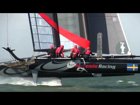 artemis - This week Artemis Racing took on Oracle Team USA on the Foiling AC45's. Troy Tindill discusses status of the foiling AC45 program and how the team on board i...