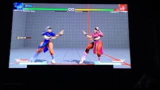 1080p capture from external source of me in training mode testing out Chun Li's normals and combo potential.