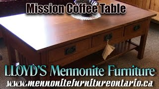 Mennonite Oak Mission Coffee Table