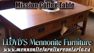 Mennonite Oak Mission Coffee Table
