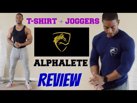 Alphalete Clothing Review & Unboxing   Joggers + 3/4 Sleeve + Short Sleeve   Sizing Guide