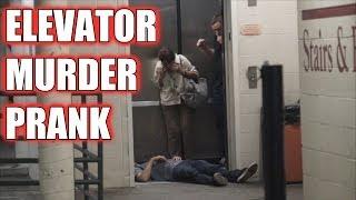 This Fake Dead Man On Elevator Prank Shocked Everyone!