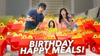 Video BUNCH OF HAPPY MEALS FOR BABY SIS BIRTHDAY!! | Ranz and Niana MP3, 3GP, MP4, WEBM, AVI, FLV Desember 2018