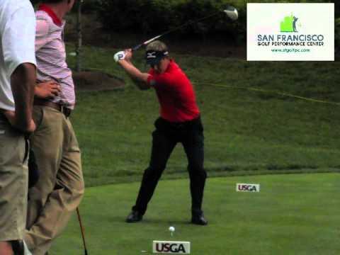 World No.1 Luke Donald Driver FO Slow Motion Golf Swing US Open 2011