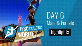 IFSC World Youth Championships Guangzhou Highlights Male & Female Bouldering Semi-Finals by International Federation of Sport Climbing