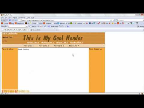 Creating a Horizontal Nav in CSS