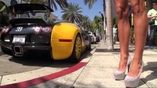 TAMIA IN HIGH HEELS&THE BUGATTI VEYRON ON RODEO DRIVE SEXY WALKING